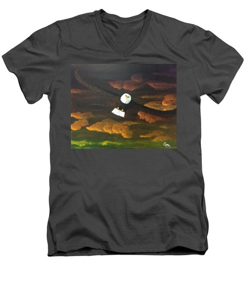Sunset Eagle Men's V-Neck T-Shirt