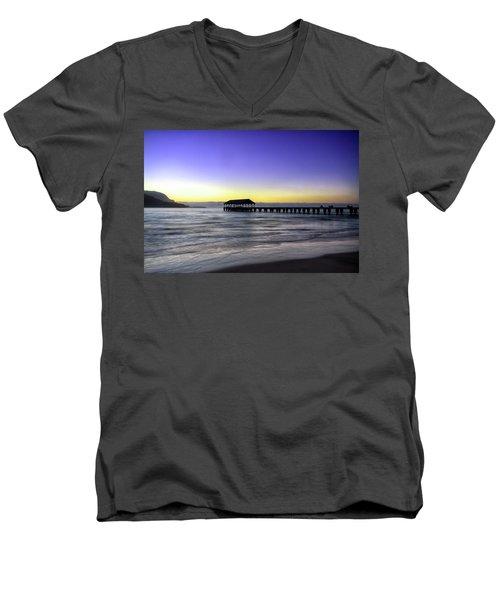 Sunset Fisherman Men's V-Neck T-Shirt