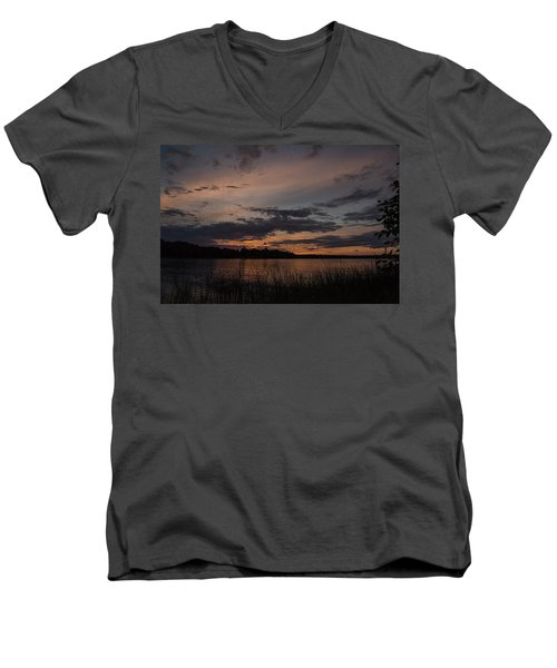 Sunset From Afternoon Beach Men's V-Neck T-Shirt