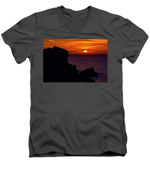 Sunset From Costa Paradiso Men's V-Neck T-Shirt