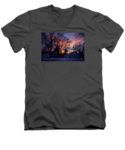Sunset From My View Men's V-Neck T-Shirt by Kathy M Krause