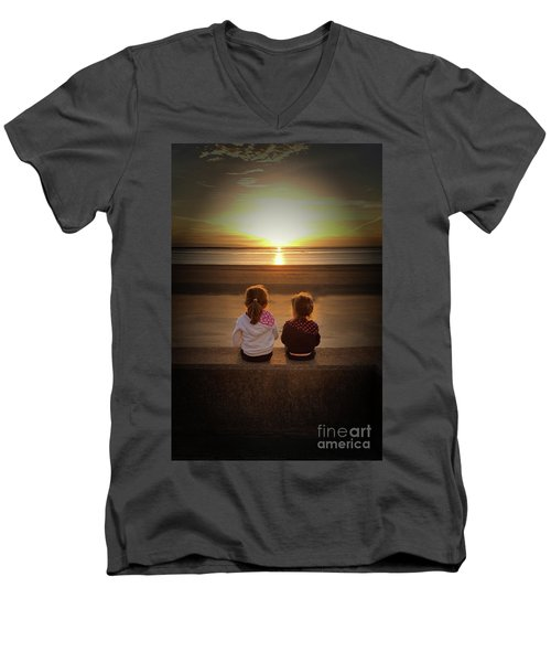 Sunset Sisters Men's V-Neck T-Shirt