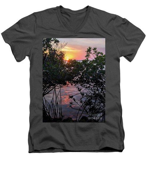 Sunset, Hutchinson Island, Florida  -29188-29191 Men's V-Neck T-Shirt