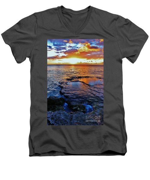 Sunset In A Tide Pool II Men's V-Neck T-Shirt