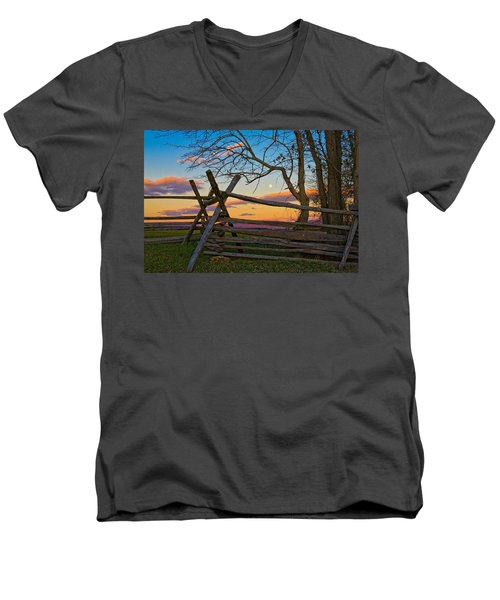 Sunset In Antietam Men's V-Neck T-Shirt