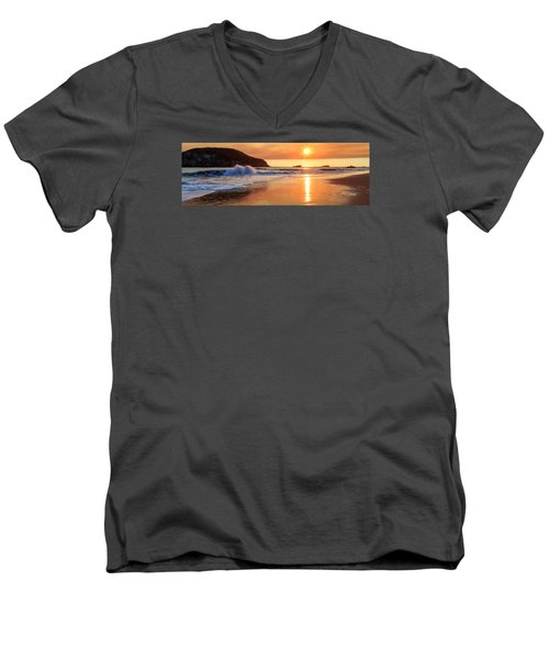 Men's V-Neck T-Shirt featuring the photograph Sunset In Brookings by James Eddy