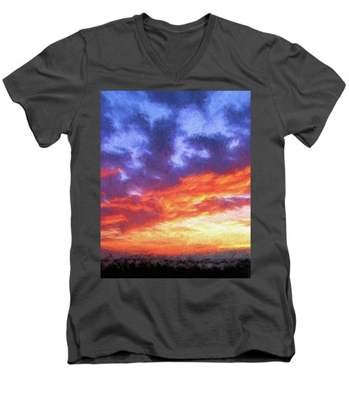 Sunset In Carolina Men's V-Neck T-Shirt