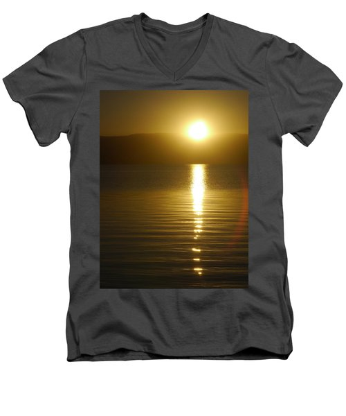 Sunset In January Men's V-Neck T-Shirt