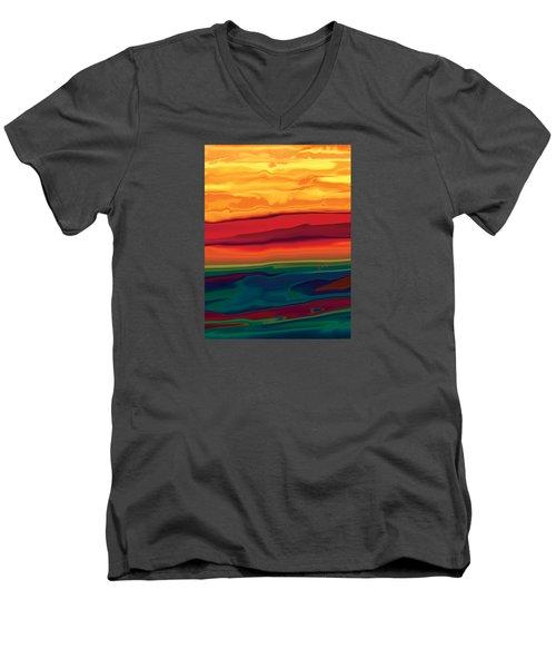 Sunset In Ottawa Valley 1 Men's V-Neck T-Shirt by Rabi Khan