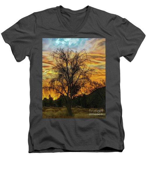 Sunset In Perris Men's V-Neck T-Shirt