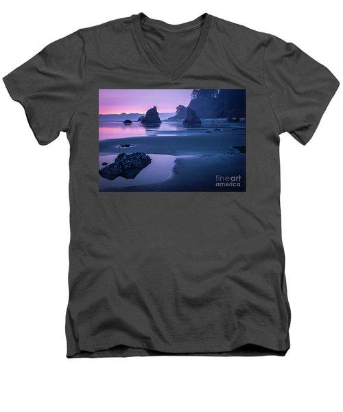Sunset In Ruby Beach Men's V-Neck T-Shirt