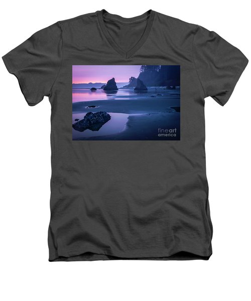 Sunset In Ruby Beach Men's V-Neck T-Shirt