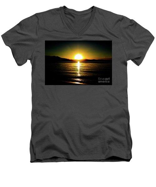 Sunset Lake 2 Men's V-Neck T-Shirt