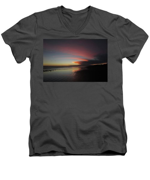 Sunset Las Lajas Men's V-Neck T-Shirt
