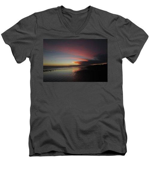 Sunset Las Lajas Men's V-Neck T-Shirt