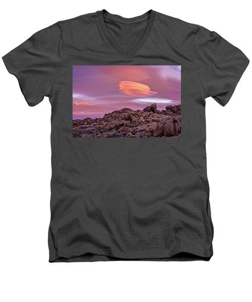 Sunset Lenticular Men's V-Neck T-Shirt