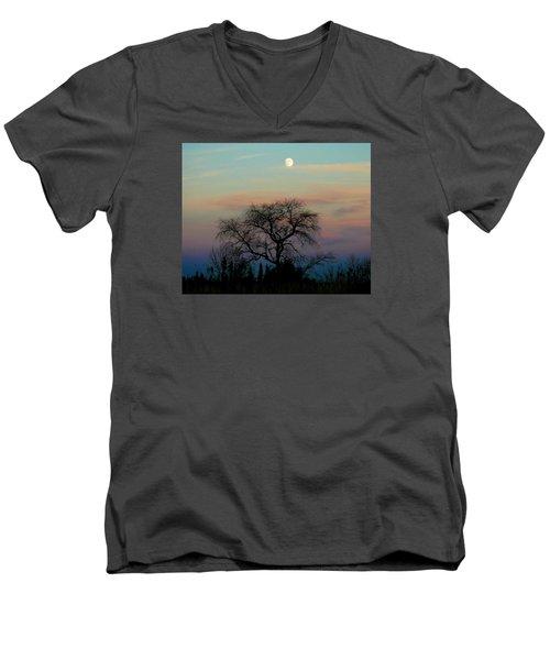 Sunset Moon Men's V-Neck T-Shirt