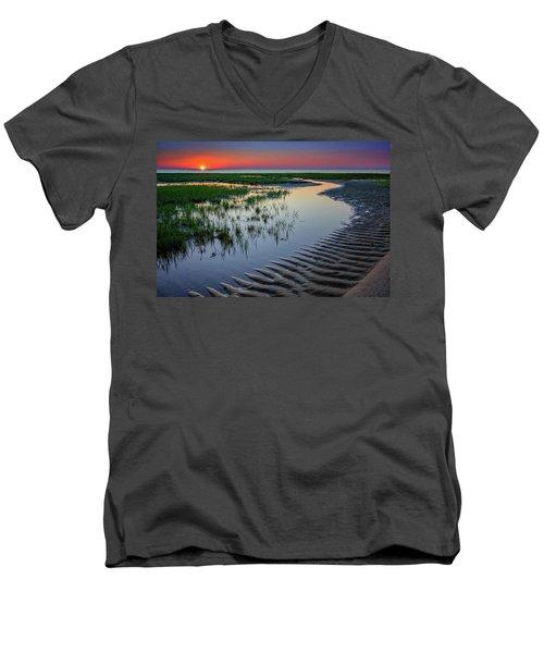 Sunset On Cape Cod Men's V-Neck T-Shirt
