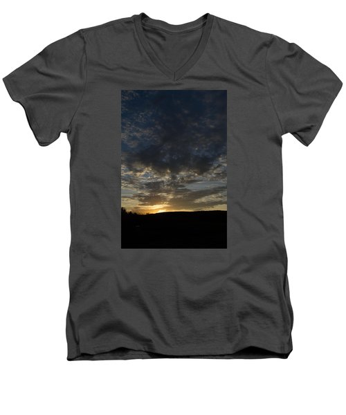 Men's V-Neck T-Shirt featuring the photograph Sunset On Hunton Lane #2 by Carlee Ojeda