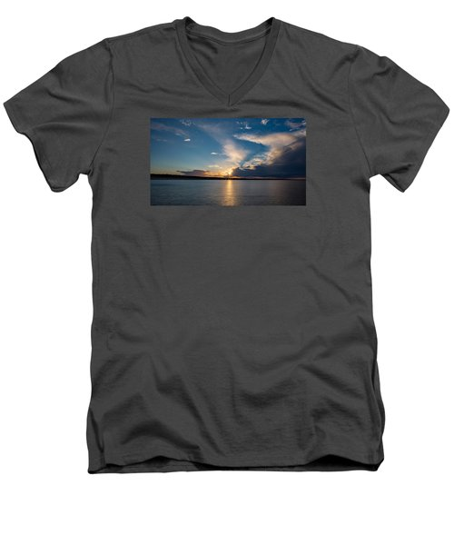 Sunset On The Baltic Sea Men's V-Neck T-Shirt