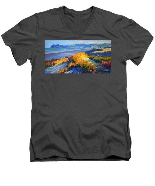 Sunset On The Beach Men's V-Neck T-Shirt