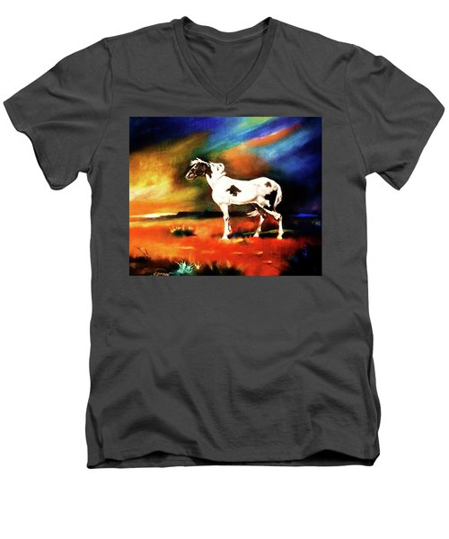 Sunset On The Plains Men's V-Neck T-Shirt