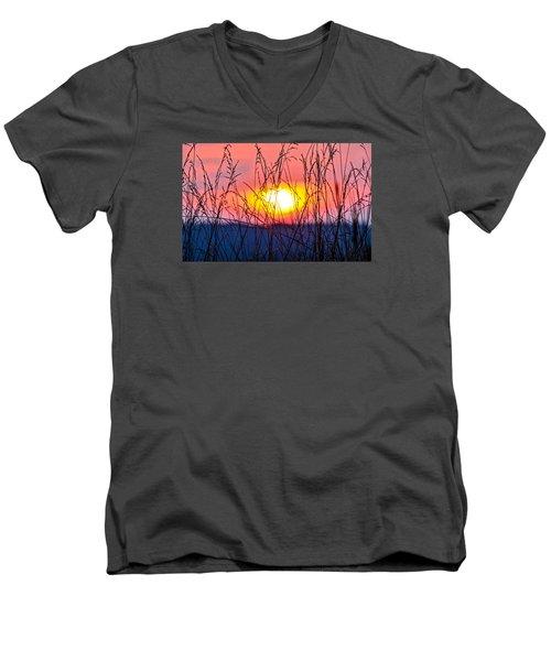 Sunset On The Prairie  Men's V-Neck T-Shirt