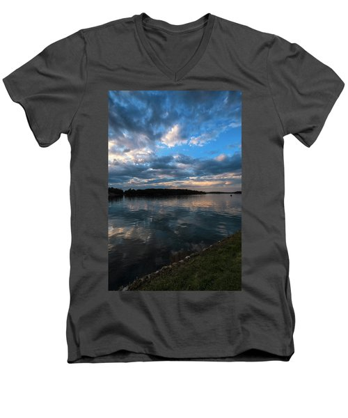 Sunset On The River Men's V-Neck T-Shirt