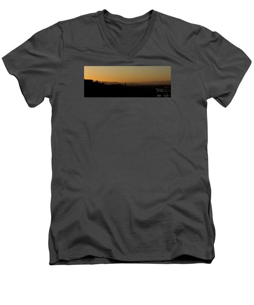 Men's V-Neck T-Shirt featuring the photograph Sunset Over Florence by Wade Brooks