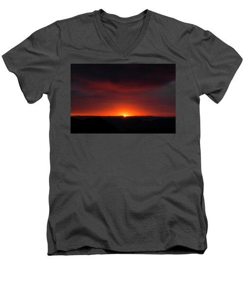 Sunset Over Grand Canyon Men's V-Neck T-Shirt