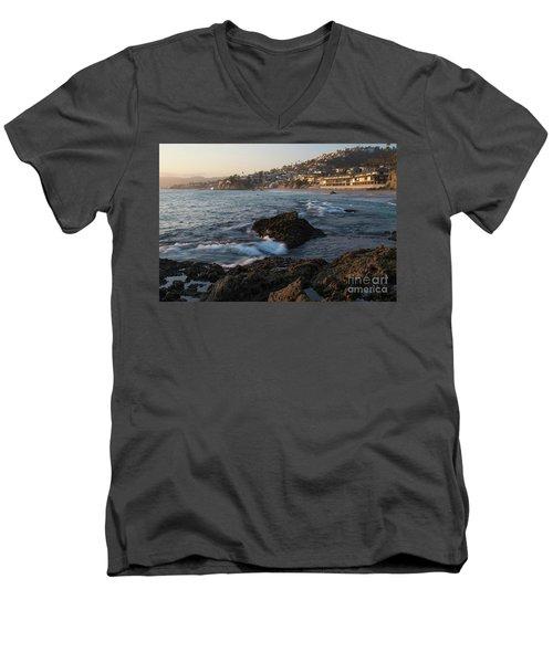 Sunset Over Laguna Beach   Men's V-Neck T-Shirt