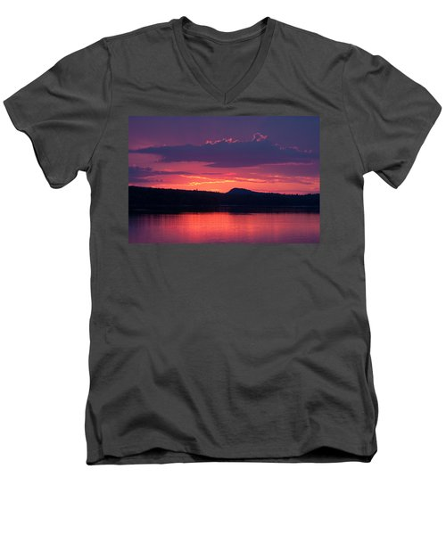 Sunset Over Sabao Men's V-Neck T-Shirt