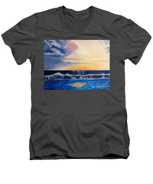Sunset Over The Sea Men's V-Neck T-Shirt