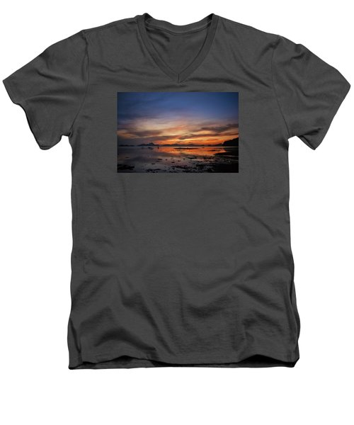Sunset Pi Men's V-Neck T-Shirt