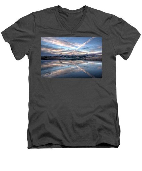 Sunset Reflection Men's V-Neck T-Shirt
