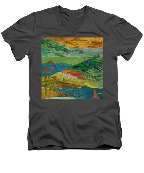 Sunset Sails 3 Men's V-Neck T-Shirt