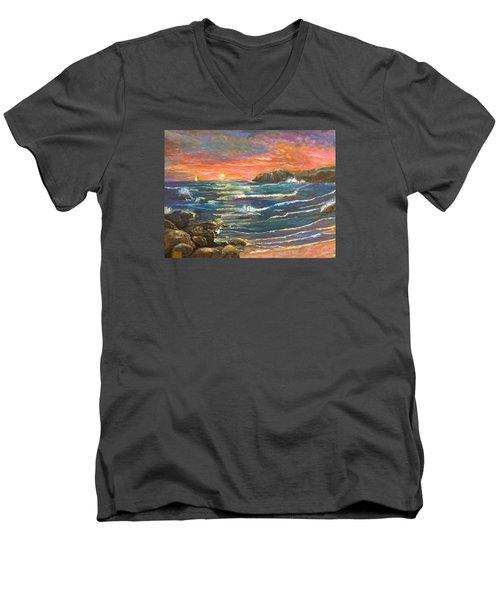 Sunset Sails Men's V-Neck T-Shirt