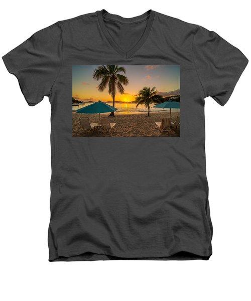 Sunset Secret Harbor Men's V-Neck T-Shirt