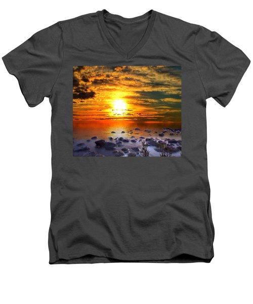 Sunset Shoreline Men's V-Neck T-Shirt