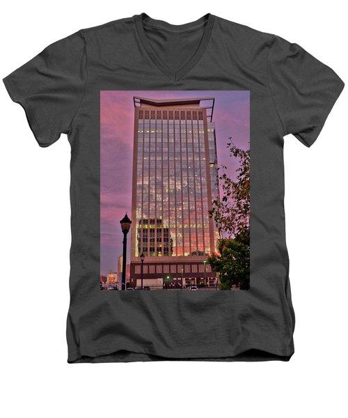 Sunset Skyscraper Men's V-Neck T-Shirt