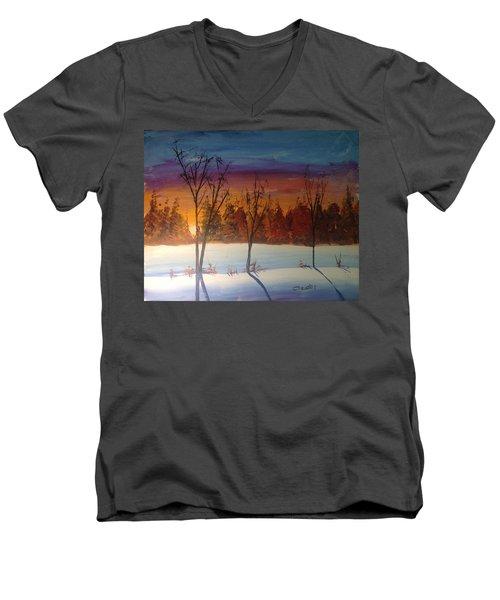 Sunset Snow Men's V-Neck T-Shirt