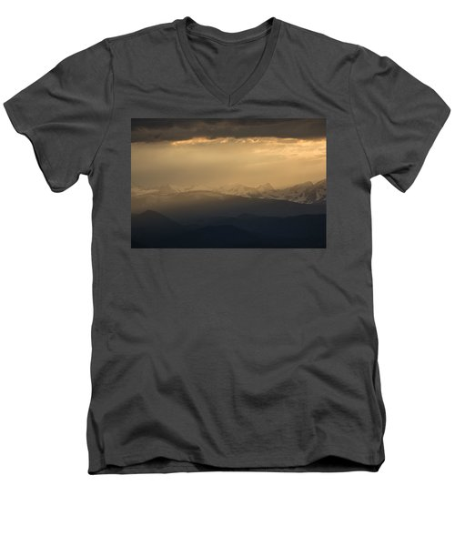 Men's V-Neck T-Shirt featuring the photograph Sunset Softness by Colleen Coccia