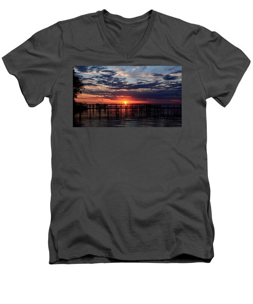 Sunset - South Carolina Men's V-Neck T-Shirt