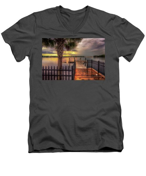 Sunset Storm Men's V-Neck T-Shirt