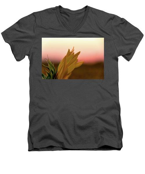 Sunset Sunflower Men's V-Neck T-Shirt