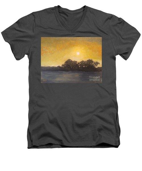 Sunset Through The Fog Men's V-Neck T-Shirt
