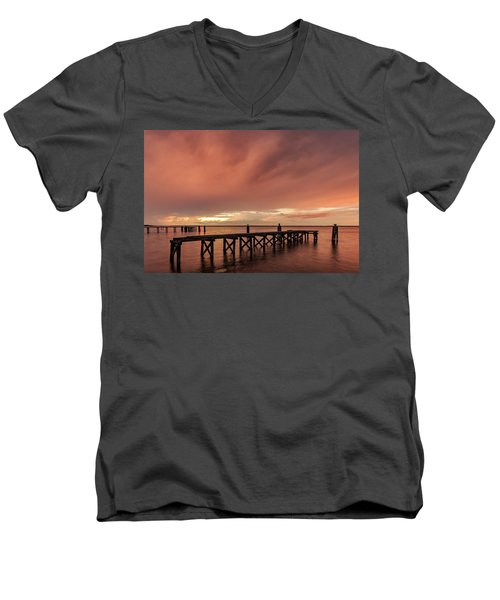 Sunset Thru Storm Clouds Men's V-Neck T-Shirt
