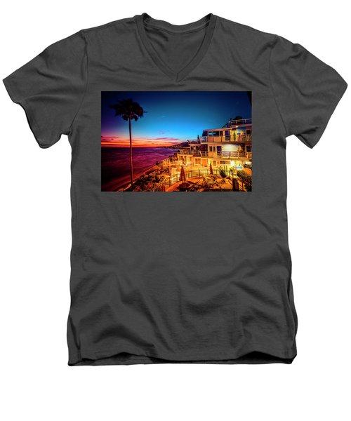 Sunset Twilight At The Laguna Riviera Men's V-Neck T-Shirt