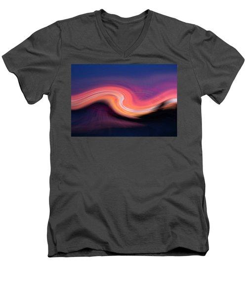 Sunset Twirl Men's V-Neck T-Shirt