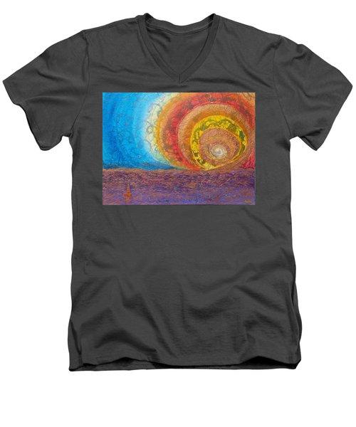 Sunset Unfurls Over Purple Sea Men's V-Neck T-Shirt